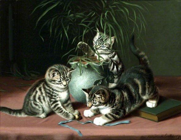 Kittens Playing Horatio Henry Couldery Private Collection