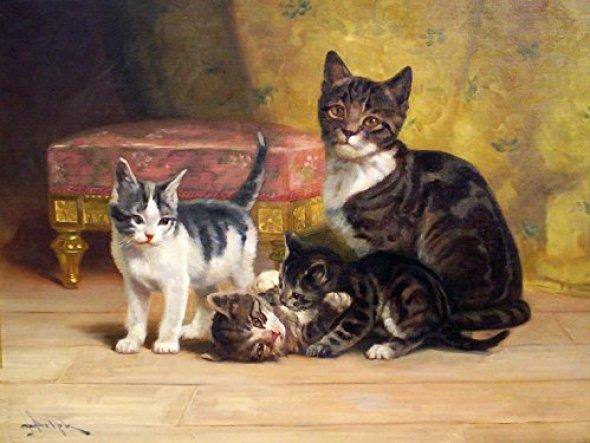 Mother and Kittens, John Henry Dolph