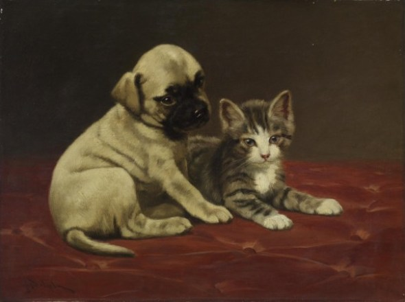 Good Friends John Henry Dolph Walters Museum cats and kittens in art