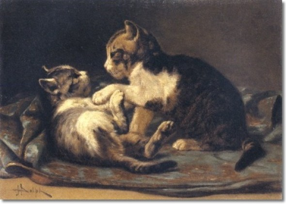 Playful Kittens Private Collection kittens in art