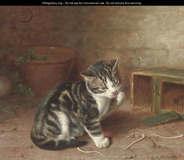 The Naughty Kitten Horatio Henry Couldery Private Collection