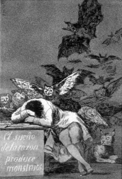 The Sleep of Reason Produces Monsters 1798, cats in art