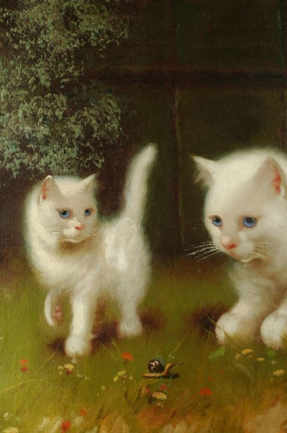 cats and kittens in art