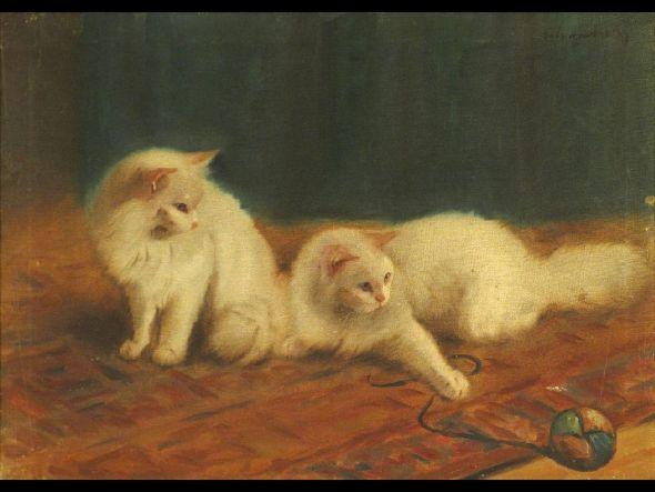 Persian cats in art