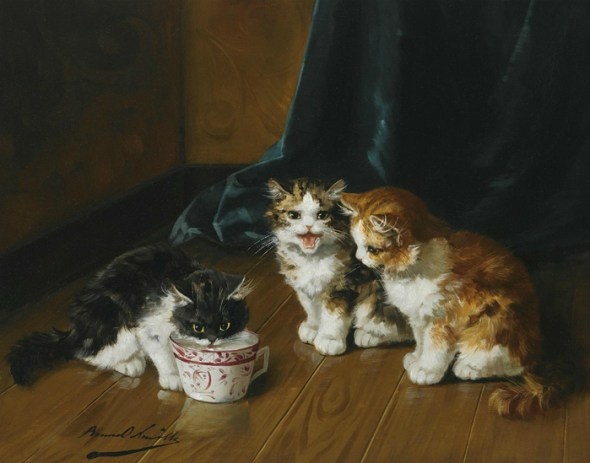Milk for One Cats in art