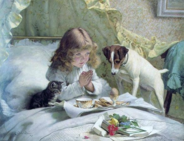 Suspense 1894 cats and kittens in art