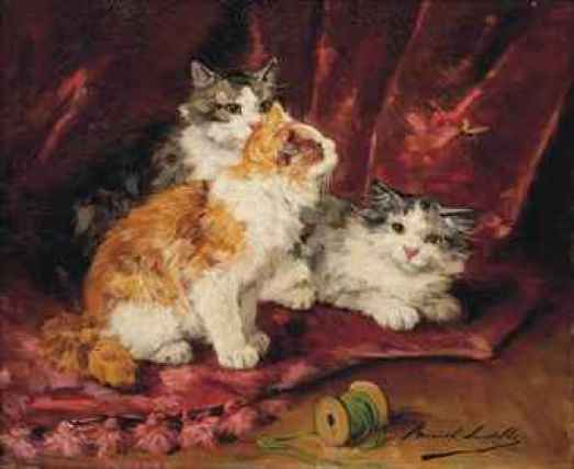 Playmates cats in art