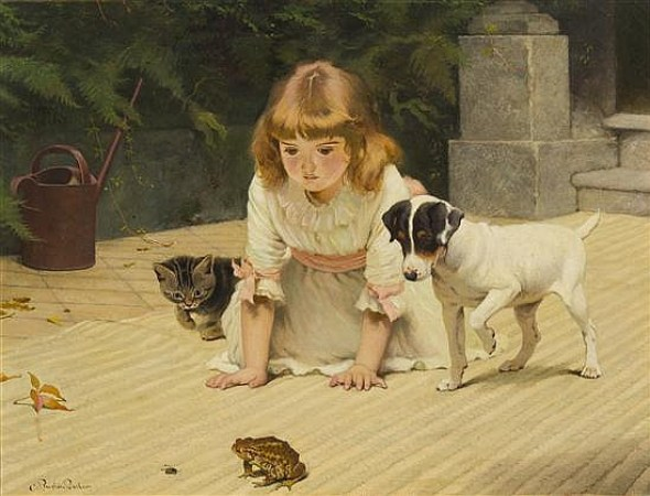 Curiosity cats in classic paintings