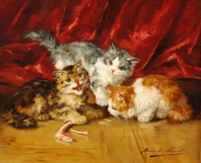 Kittens Playing Brunel de Neuville