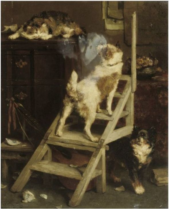 Cornered, Charles Van den Eycken Private Collection