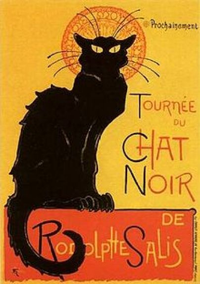 Chat Noir cats in art, Theophile Steinlen cats