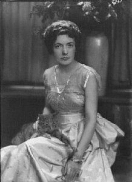 Mrs. Bernice Ballard with Buzzer the Cat 1916