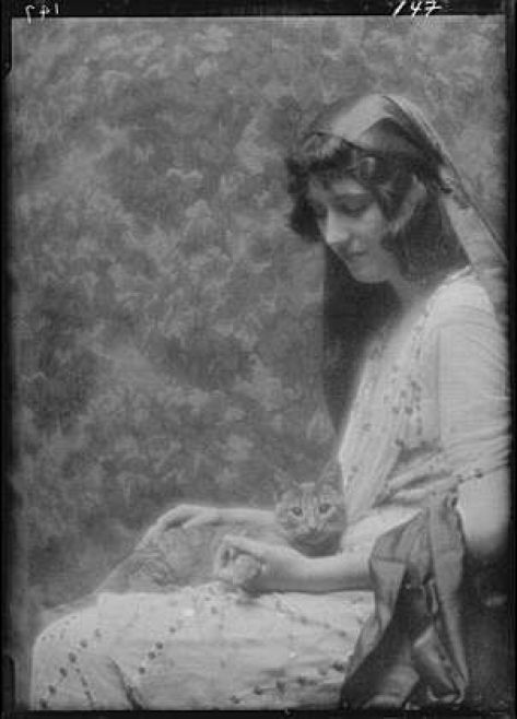 Miss Bonnie Maude with Buzzer the Cat