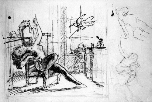 Study of Nude with Cat 1949 Museum of Modern Art, NY Balthus cats in art