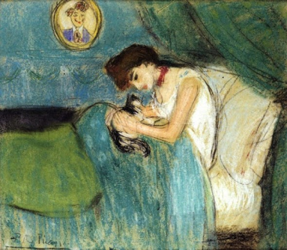 Woman with Cat 1900 Picasso Cats Cats in Art