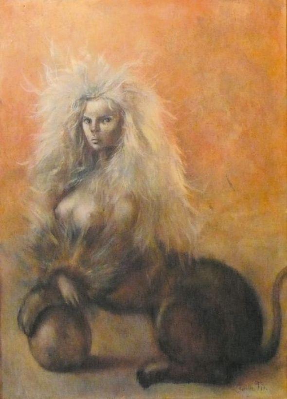 Leonor Fini Sphinx for David Barrett 1954