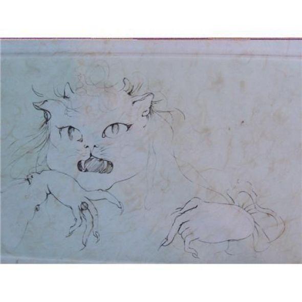 Woman-cat Leonor Fini cats in art