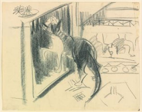 Kirchner Katze am Ofen Cat and Oven