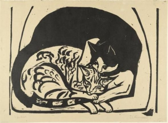 Kirchner Zwei Katzen Two Cats 1936
