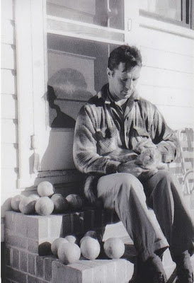 Jack Kerouac and cat, cats and writers