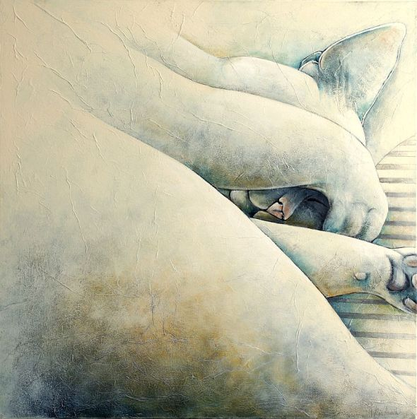 Bliss Sleeping (2) Carla Raadsveld, cats in contemporary art