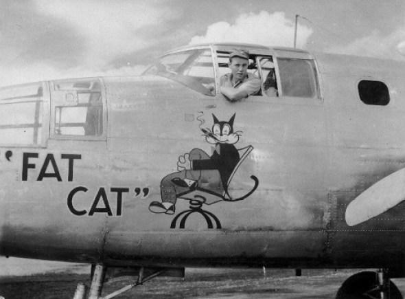 Fat Cat, September or October 1943 at Doba Dura cats in war, war cats, cat mascots