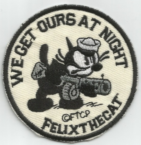 VF-3 VF-6 VF-31 MILITARY, PATCH, WWII, cats in war, Felix the Cat