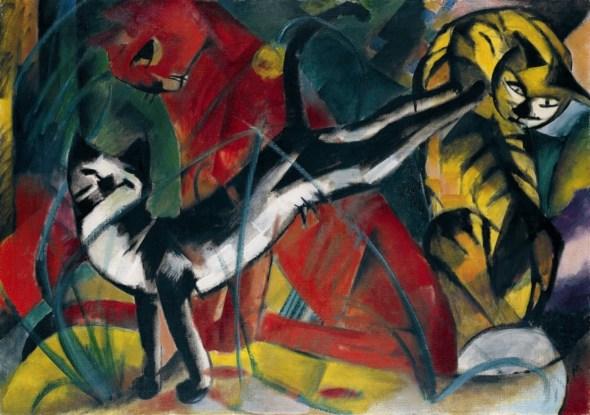 Franz Marc Three Cats 1913