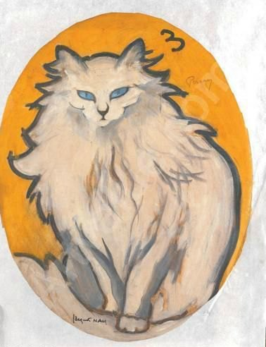 1930-Persian cats in art