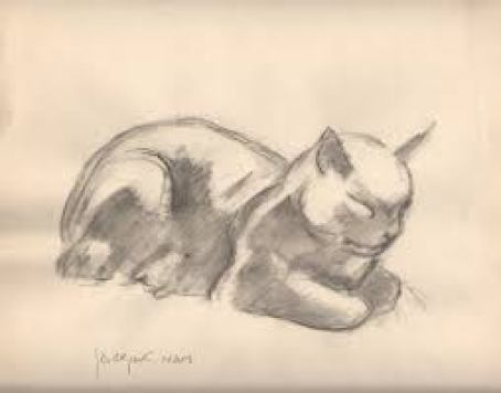 Crouching Cat, cats in 20th century