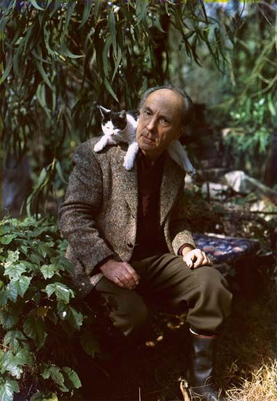 Edward Weston and cat