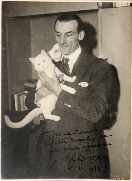 Jacques Lehmann Nam with Cat