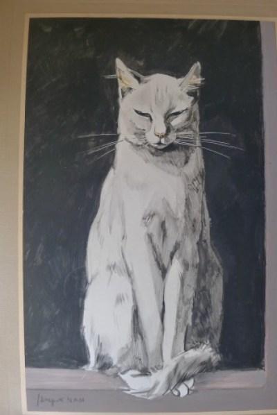 The White Cat, watercolor, Jacques L Nam