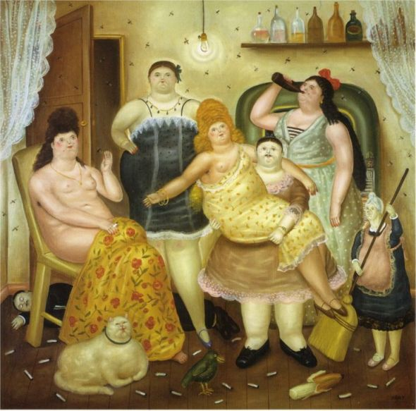 The Girls and their Cat 1970 F. Botero