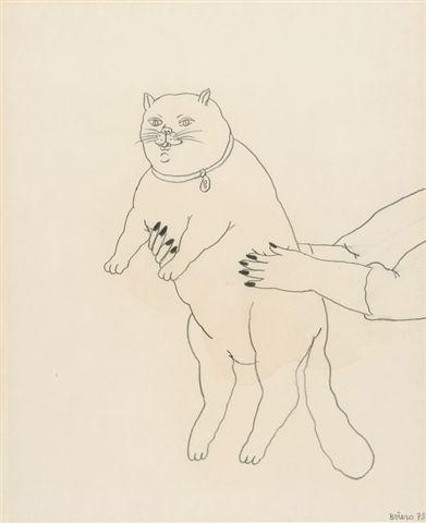 F. Botero a fat cat 1979