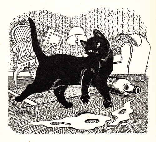 From 'God and the Little Cat' by Selwyn Jepson  illustration by Dame Eileen Mayo