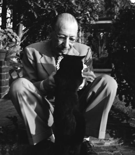 Cartier-Bresson Igor Stravinsky and his Cat California, 1947
