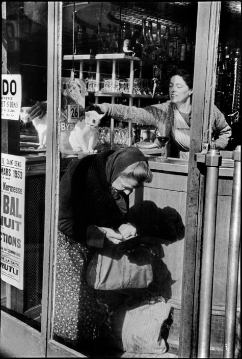 Henri Carter-Bresson, Cat, Paris 1953