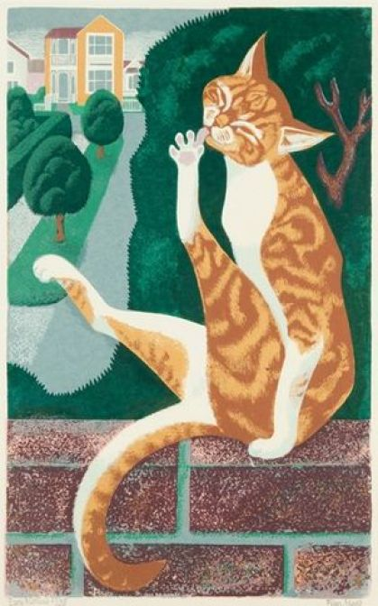 Early Morning, Eileen Rosemary Mayo, cat illustrations