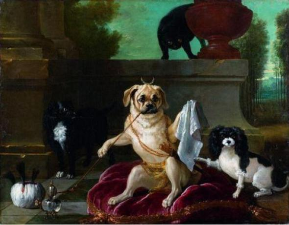Jean Baptiste Oudry, Le Serail du Doguin, 1734 cat paintings