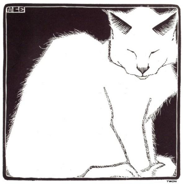 M.C. Escher, White Cat, 1919
