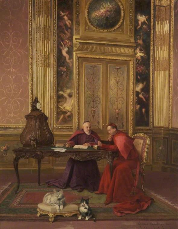 Cardinals at Leisure, G. Croegaert
