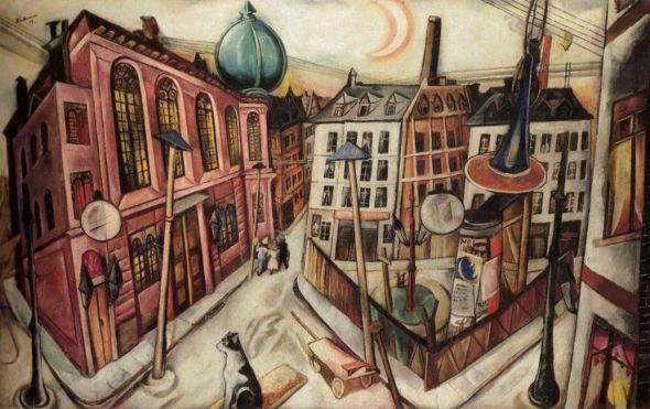 M. Beckmann, Synagogue Frankfurt Am Main 1919
