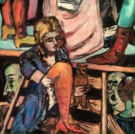 M Beckmann, Woman and Cat