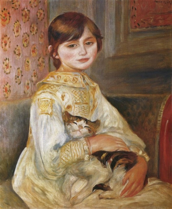 Renoir, Julie Manet with Cat, 1887