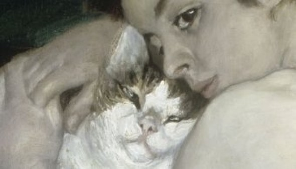 Renoir The Boy and Cat Detail 1868