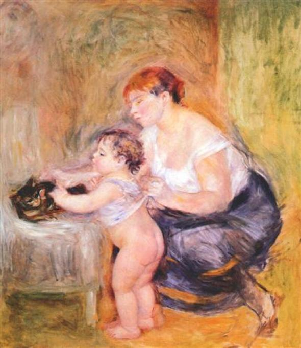 Renoir Mother and Child 1895