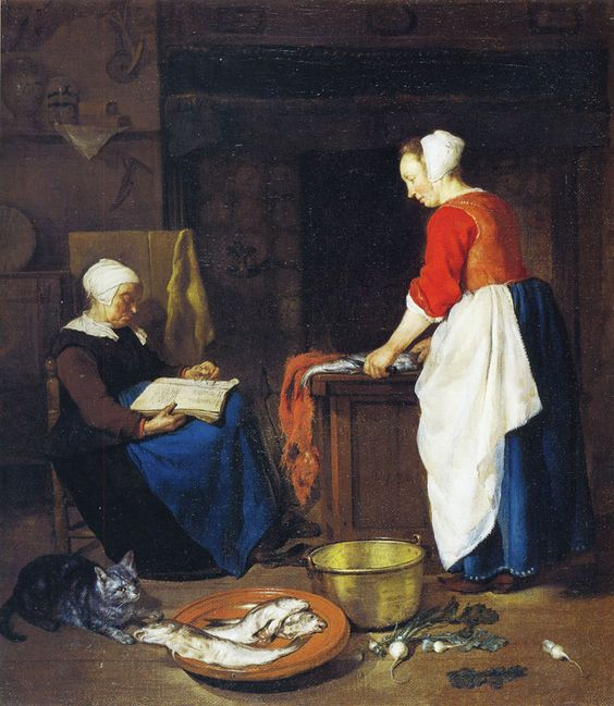 Gabriel Metsu Old Woman Asleep