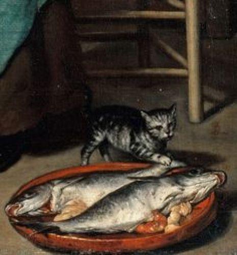 Detail, The Cook G. Metsu