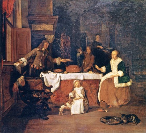 Gabriel Metsu, The Family Dinner
